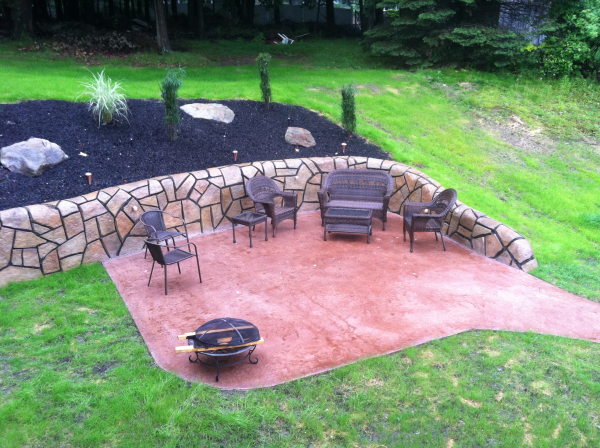 stamped concrete deck buildercentral valley ny